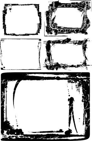 Grunge texture border Illustration