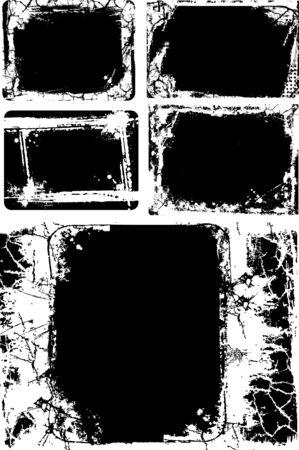 cracking: Grunge texture border Illustration