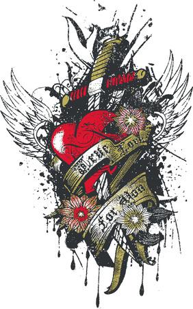 Heart crown sin religion Vector