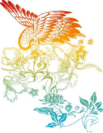 lady bird: Oriental bird flower