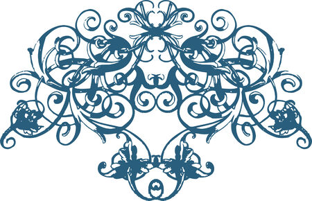 Scroll floral ornament Vector