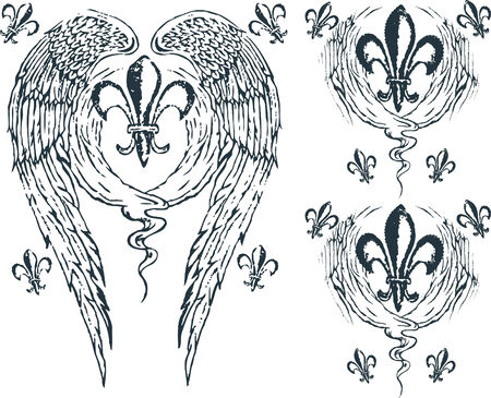 scroll of the law: Heraldic wing royalty