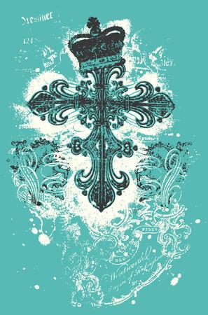celtic cross: Cross heraldic crown