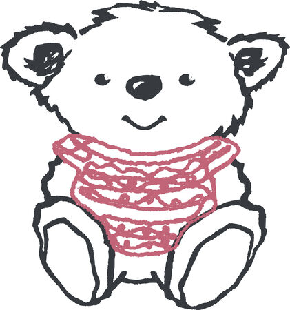 lovely bear illustration Illustration