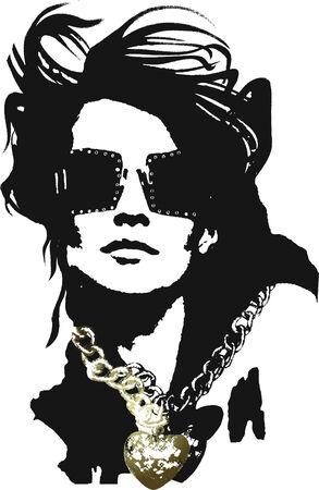 celebrities: Vrouw pop art Stock Illustratie