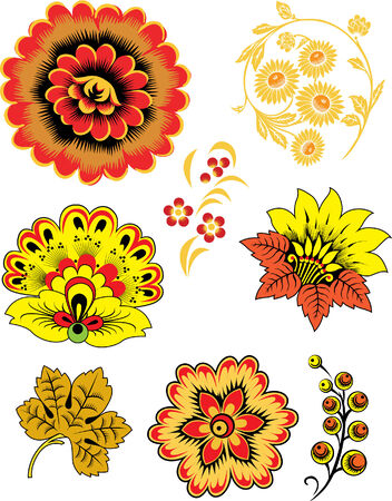 oriental flower 向量圖像