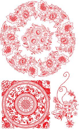 oriental flower: oriental flower Illustration