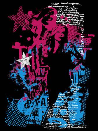 cyber girl: fashion woman poster
