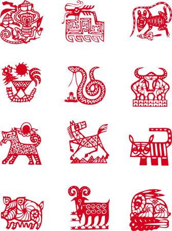 cabras: Animales del zodiaco chino antiguo s�mbolo a�o
