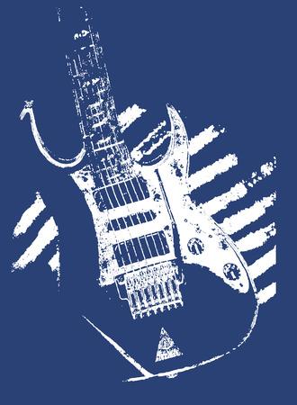 guitarristas: m�sica de guitarra ilustraci�n Vectores