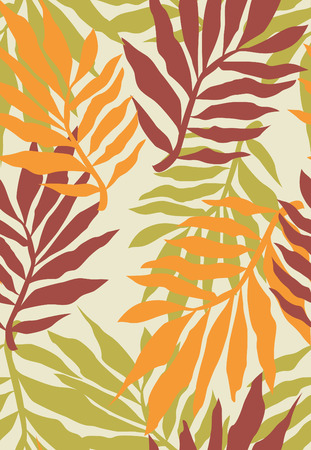 seamless tropical plant pattern Vector