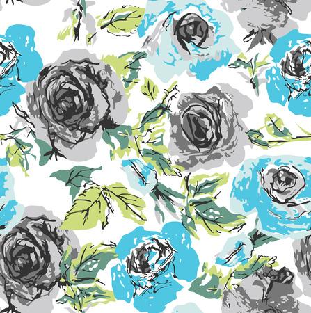seamless flower rose pattern Stock Vector - 5124873