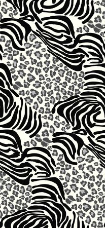 skin color: Seamless tiling animal print patterns Stock Photo