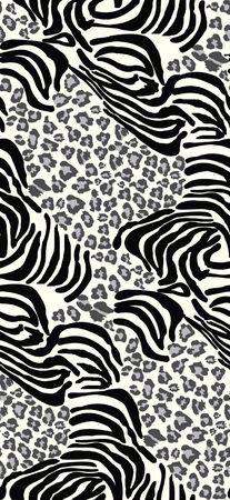 giraffe skin: Seamless tiling animal print patterns Stock Photo