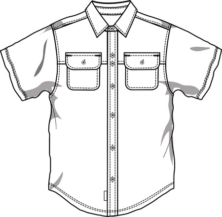 Men button down shirt Stock Vector - 5182856