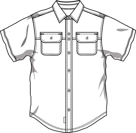 Men button down shirt Vector
