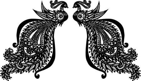 ilustración de pavo real Ilustración de vector