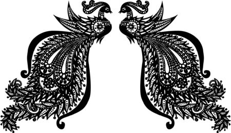 peacock illustration Stock Vector - 5182857