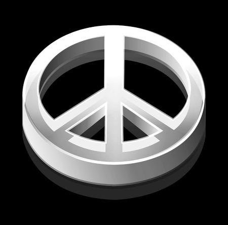 3D peace icon photo