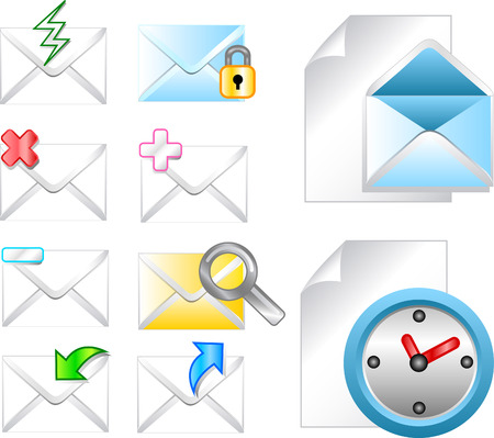 Web internet email icon for different design Vector