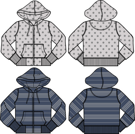 boy and girl fashion hoodies Stock Vector - 5208340