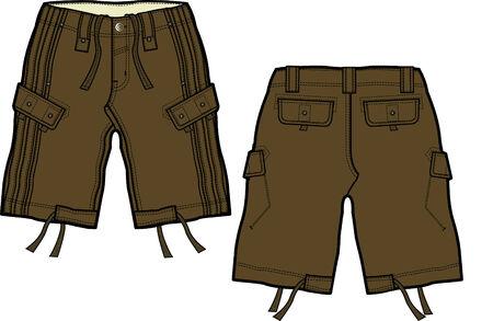 boy cargo shorts Stock Vector - 5208344