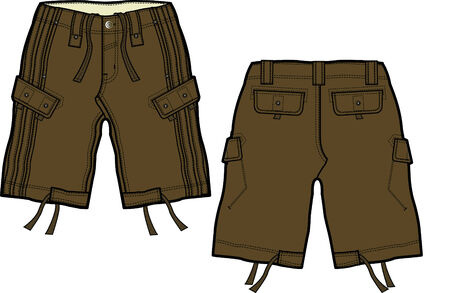 shorts: muchacho carga cortos Vectores