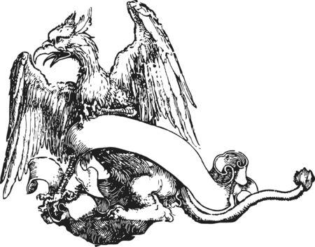 rebel: Heraldic royal emblem shield