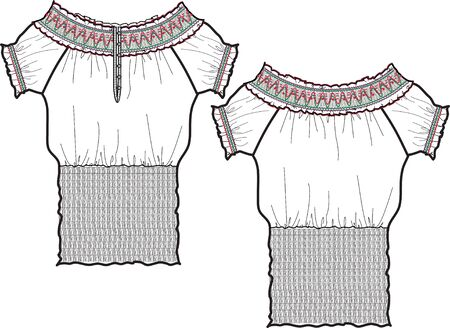 lady fashion blouse photo