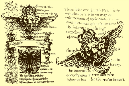 scroll of the law: classic heraldic element Illustration