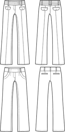 trousers: lady fashion formal pants