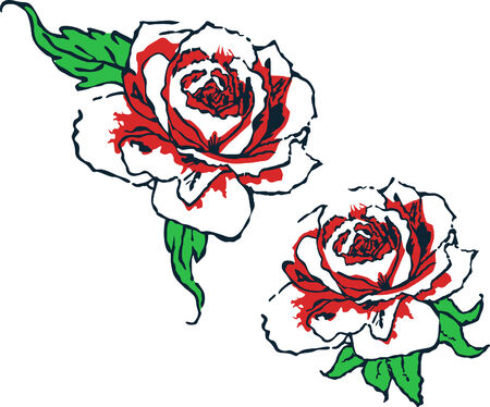 tribal woman: fancy rose tribal design