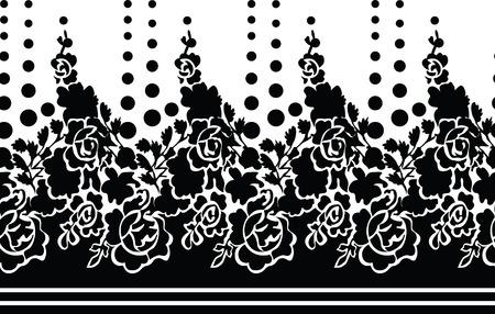 seamless flower rose wallpaper Vector