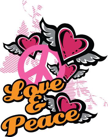 Amor y paz gráficos de lujo Foto de archivo - 5326517