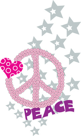 love and peace fancy graphic Vector