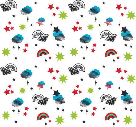 baby vector seamless pattern Vector