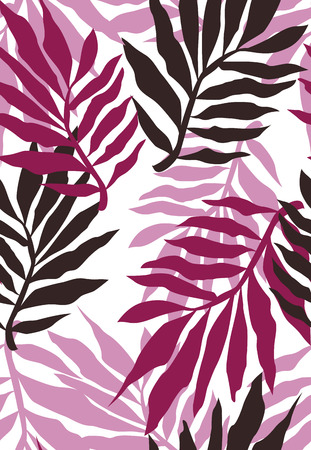 seamless plant wallpaper pattern Vector