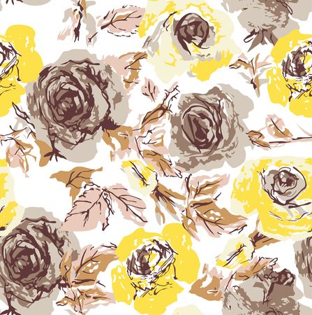 fancy girl: seamless flower rose wallpaper Illustration