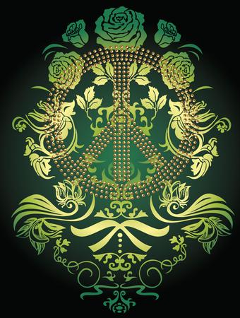 peaceful fancy flower logo emblem Vector