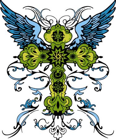 tribal tattoo: classic cross tribal tattoo