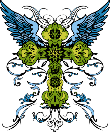classic cross tribal tattoo Stock Vector - 5326536