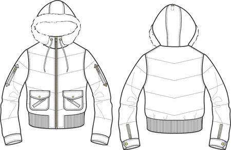 lady fashion jacket Stock Vector - 5326541
