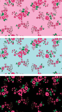Seamless vintage rose flower wallpaper Stock Vector - 5326542