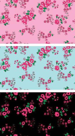 Seamless vintage rose flower wallpaper Stock Vector - 5326542