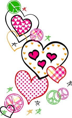 Heart And Peace Logo Stock Vector - 5352020