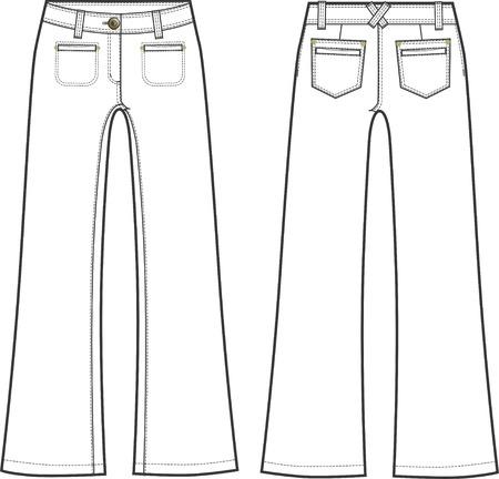 long pants: lady fashion long formal pants