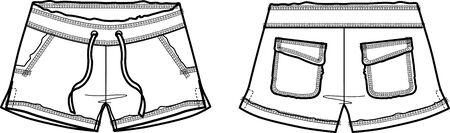 porfessional: lady fashion hot shorts Illustration