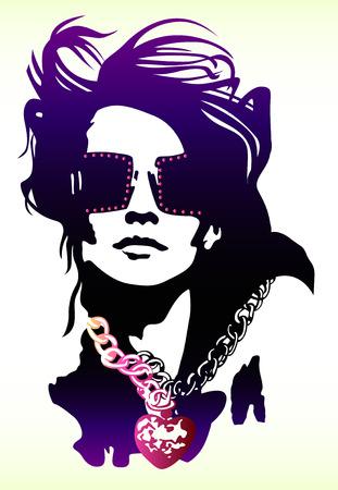 celebrities: fancy vrouw pop art poster Stock Illustratie
