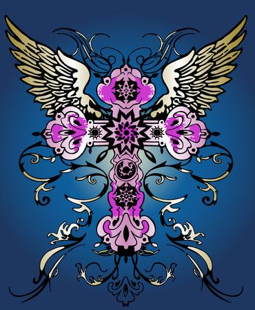 ancient cross symbol emblem