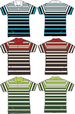 men stripe fashion polo clip art Vector